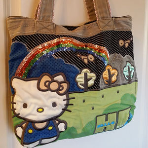 80a7a0972 Loungefly · Loungefly Hello Kitty Purse Patchwork Sanrio